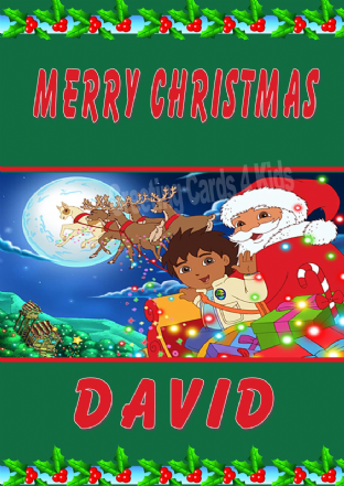 Personalised Diego Christmas Card